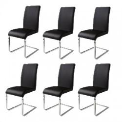 6 Sedie per Tavolo Nere