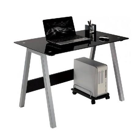 Scrivania Vetro Nero.Scrivania In Vetro Nero Mdm Arredo Mobili Complementi E Accessori Di Design