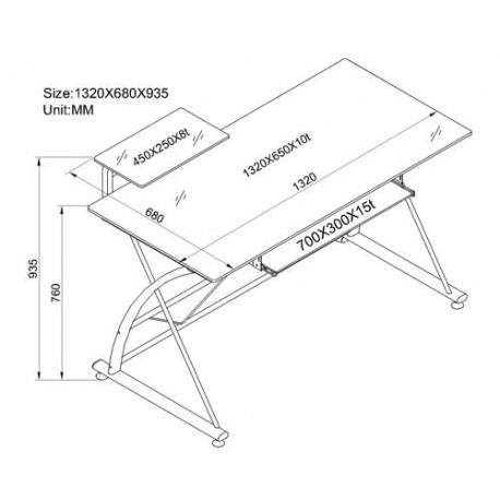Scrivania Pc In Vetro.Scrivania Porta Pc Vetro Nero Mdm Arredo Mobili Complementi E Accessori Di Design