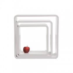 Set 3 cubi bianchi ovali da terra