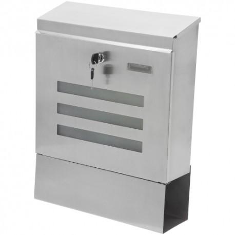 Cassetta postale in acciaio inox 304 Bianco