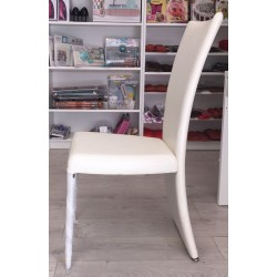 sedie bianche ecopelle