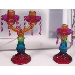 candelabri - 2 candele e 1 candela colorato